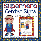 Superhero Super Hero  Center Signs