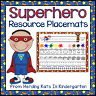 Superhero Super Hero Placemat
