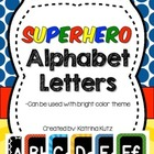 Superhero Theme Alphabet Cards