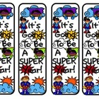 Superhero Themed Bookmarks