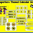 Superhero Themed Calendar Set {Spanish}