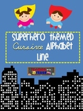 Superhero Themed Cursive Alphabet