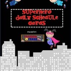 Superhero Themed Editable Daily Schedule Cards