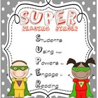 Superhero Themed Reading Binder Cover