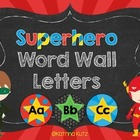 Superhero Word Wall  Letter Headers