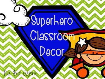 Superhero theme decor