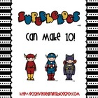 Superheroes Can Make Ten! Freebie