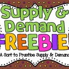 Supply &amp; Demand Sort FREEBIE!