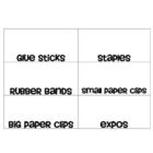 Supply Drawer Organizer Labels