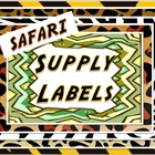 Supply Labels- Safari