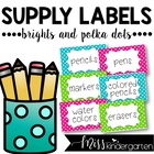 Supply Labels {polka dots}