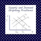 Supply and Demand Graphing Problems