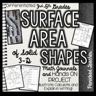 Surface Area of Solid Shapes Math Journals and Interactive