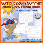 Surfin&#039; through Summer ~ A Summer Work Packet