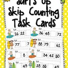 Surfs Up Skip Counting Task Cards FREEBIE