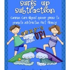 Surfs Up Subtraction Spinner Games- Common Core Aligned