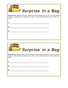 Surprise in a Bag-Back to School Icebreaker