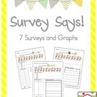 Survey Says!  A mini unit for surveys and graphs