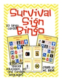 Survival Sign Bingo