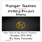"Suzanne Collins ""Hunger Games"" Unit Differentiated Writing"