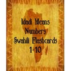 Swahili Numbers 1-10 Flashcards