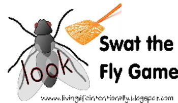Swat the Fly Game {Preschool Dolch Sight Words}