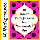 Sweet Backgrounds for Commercial Use {Clipart}