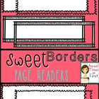 Sweet Borders: Doodle Headers {Graphics For Commercial Use}