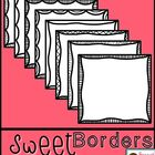 Sweet Borders: Square Doodle Frames {Graphics For Commercial Use}