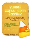 Sweet Candy Corn Families: Multiplication/Division Fact Fa
