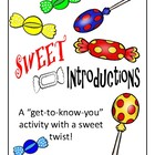&quot;Sweet&quot; First Day of School Activity