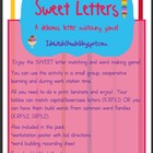 Sweet Letters - Matching and Word Building