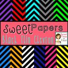 Sweet Papers: Black Thin Chevron {Digital Papers For Comme