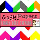 Sweet Papers: Chunky BOLD Chevron {Digital Papers For Comm