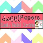 Sweet Papers: Chunky Pastel Chevron {Digital Papers For Co