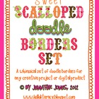 Sweet Scalloped Doodle Border Bundle (Set of 30)