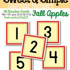 Sweet & Simple Calendar Numbers {Fall Apples}