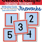 Sweet & Simple Calendar Numbers {Fireworks}