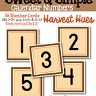 Sweet & Simple Calendar Numbers {Harvest Hues}