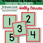 Sweet & Simple Calendar Numbers {Holly Berries}