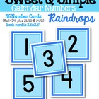 Sweet & Simple Calendar Numbers {Raindrop}