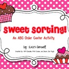 Sweet Sorting!  A Valentine's Day ABC Order FREEBIE