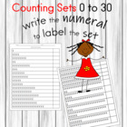 Sweet Treat Counting Sets 0 to 30