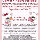 """Sweet Treats"" Math Center & Reproducibles: Relationship B"