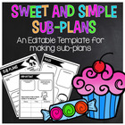 Sweet and Simple Sub. Plans! {An EDITABLE template}