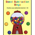 Sweet on Subtraction Bingo