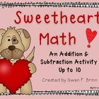 Sweetheart Math Addition and Subtraction Activity