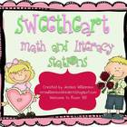 Sweetheart math and literacy stations