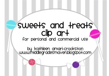 Sweets and Treats Clip Art: For Personal and Commercial Use