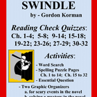 Swindle by Gordon Korman:  Novel Activities